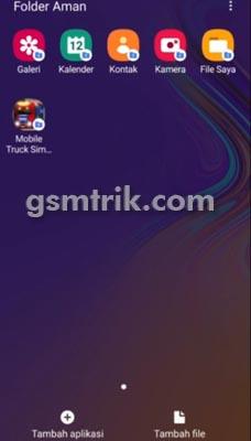 Cara Tambah Aplikasi di Folder Aman Samsung A21s