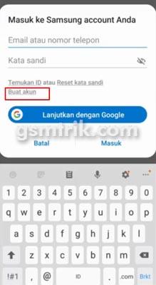 Mengakses Folder Aman dengan Samsung Account